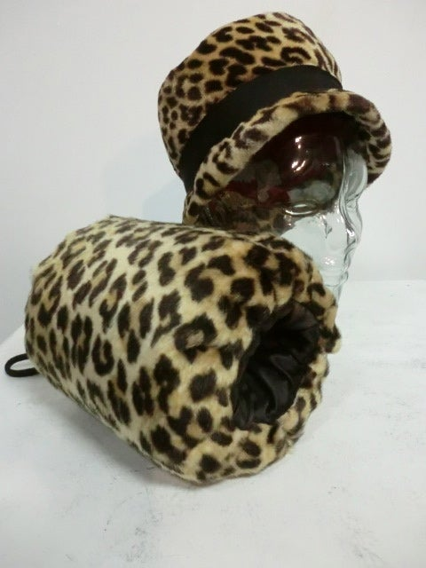 Fabulous Faux Leopard Hat and Muff Set 2