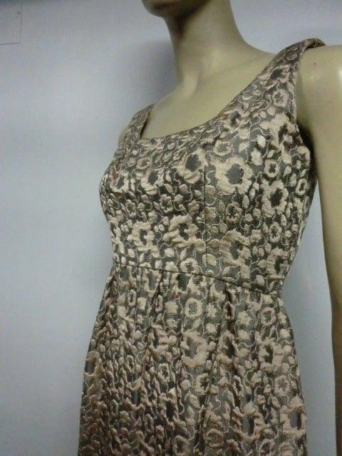 60s Kiki Hart Silk Brocade Babydoll Dress and Jacket 7