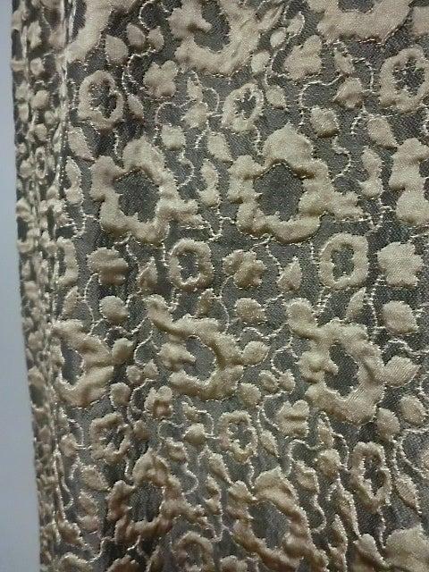 60s Kiki Hart Silk Brocade Babydoll Dress and Jacket 8