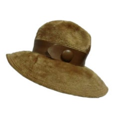 Christian Dior 70s Mohair Fedora w/ Leather Band