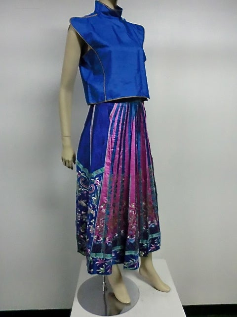 1920s Vibrant Chinese Ceremonial Skirt W Incredible