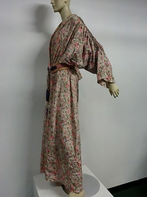 Liberty Of London Cotton Smocked Lounging Robe With