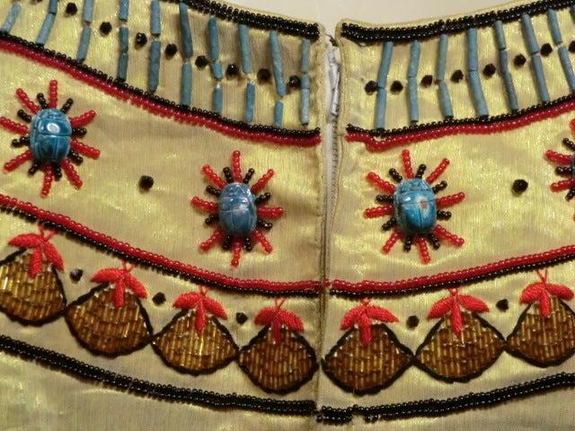 Spun Gold Egyptian Revival Embroidered 50s Ensemble 4