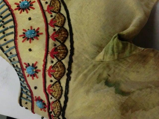 Spun Gold Egyptian Revival Embroidered 50s Ensemble 7