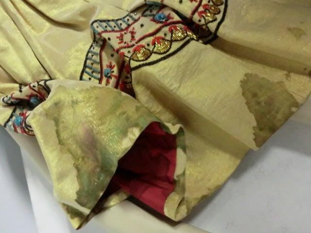 Spun Gold Egyptian Revival Embroidered 50s Ensemble 9