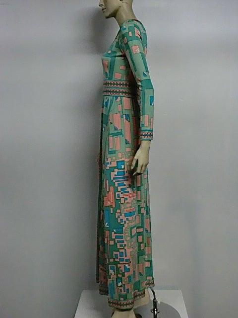 Bessi 60s Silk Jersey Mod Print Maxi Dress 4