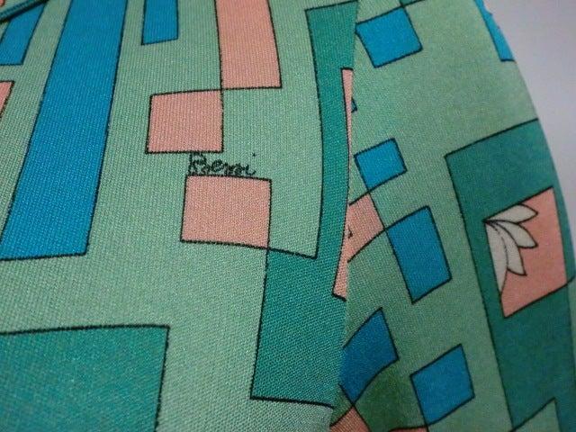 Bessi 60s Silk Jersey Mod Print Maxi Dress 6