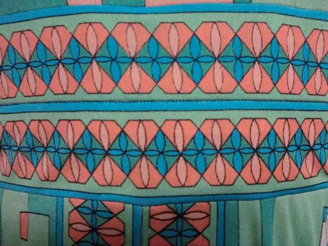 Bessi 60s Silk Jersey Mod Print Maxi Dress 7