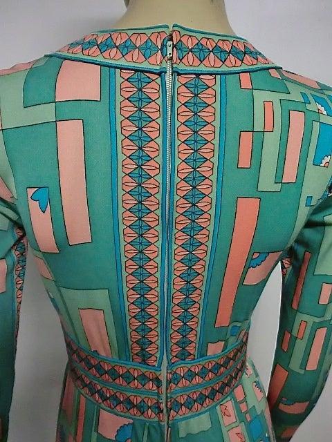 Bessi 60s Silk Jersey Mod Print Maxi Dress 9