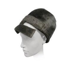 "60s Amazing Galanos Mohair Bubble Hat w/ ""Visor"""