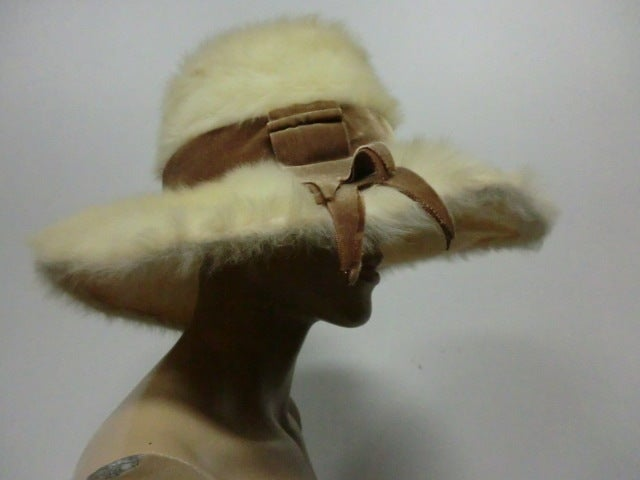 Leslie James 60s Angora Wide Brim Hat image 2