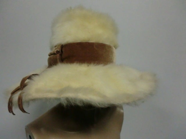 Leslie James 60s Angora Wide Brim Hat image 3