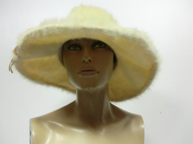 Leslie James 60s Angora Wide Brim Hat image 4
