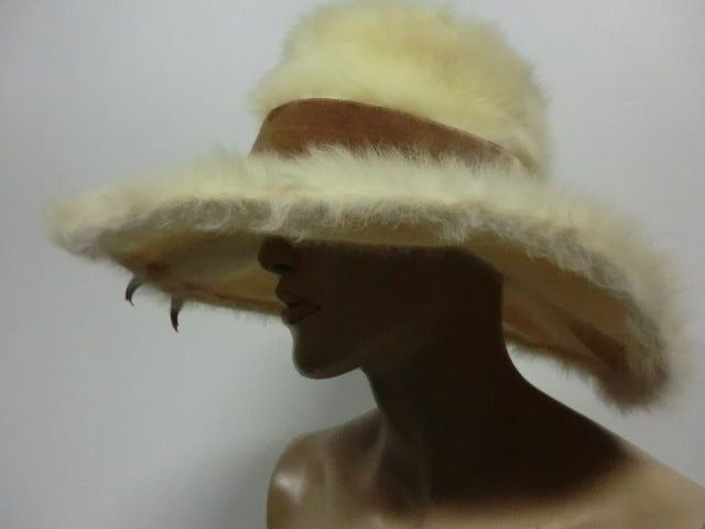 Leslie James 60s Angora Wide Brim Hat image 5