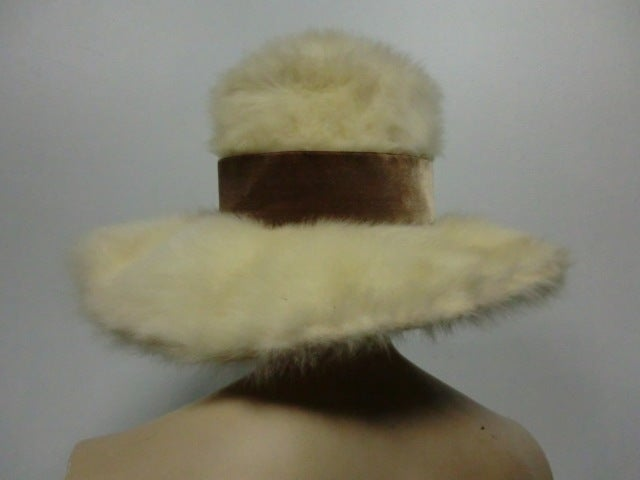 Leslie James 60s Angora Wide Brim Hat image 6