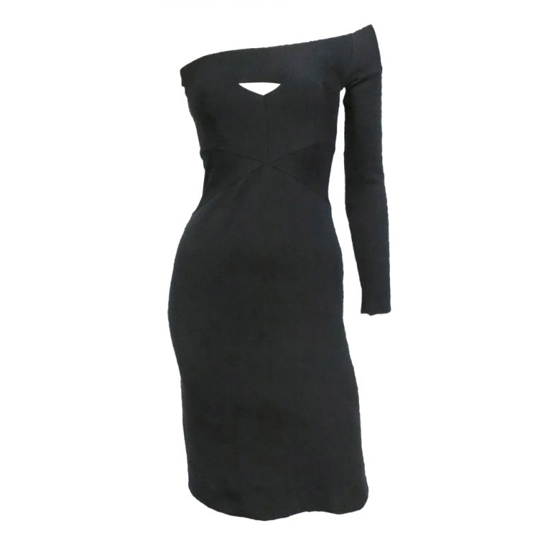 Narciso Rodriguez Body Hugging Bandage Dress With One Arm At 1stdibs