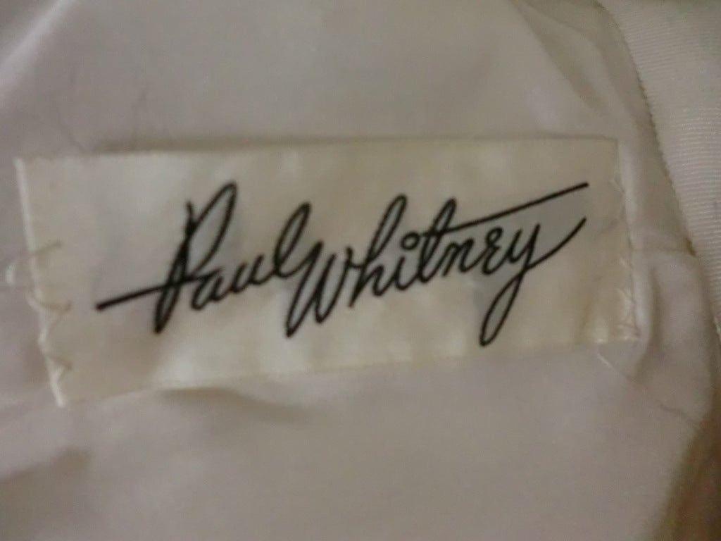 Paul Whitney 50s Silk Shantung Cocktail Dress w/ Super Structure image 10