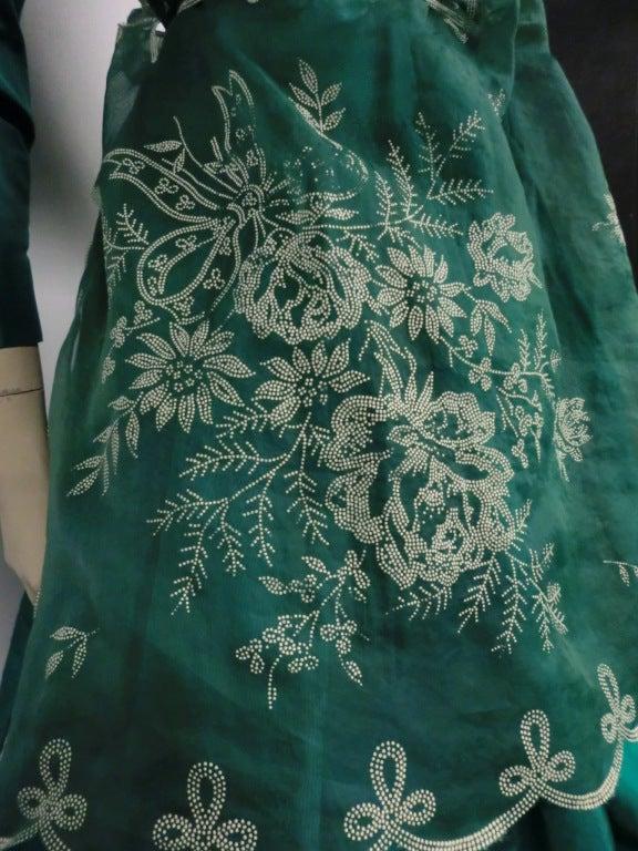 Bill Blass 70s Silk Taffeta Extravagant Bubble Hem Dress 7