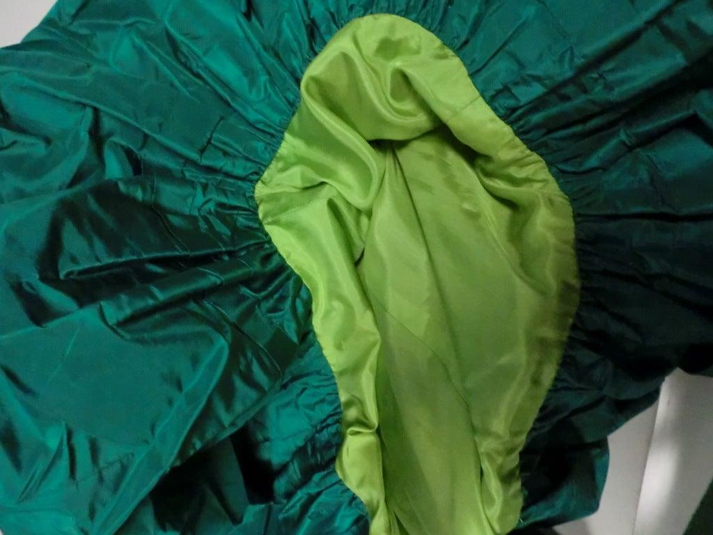 Bill Blass 70s Silk Taffeta Extravagant Bubble Hem Dress 9