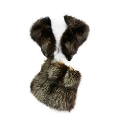 40s Fox Fur Collar and Large Muff