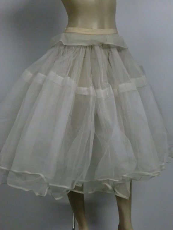 Traina-Norell 50s Mint Green Silk Satin Party Dress 7