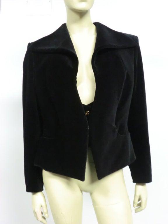 Vivianne Westwood Couture Velvet Jacket w/ built-in Vest 2