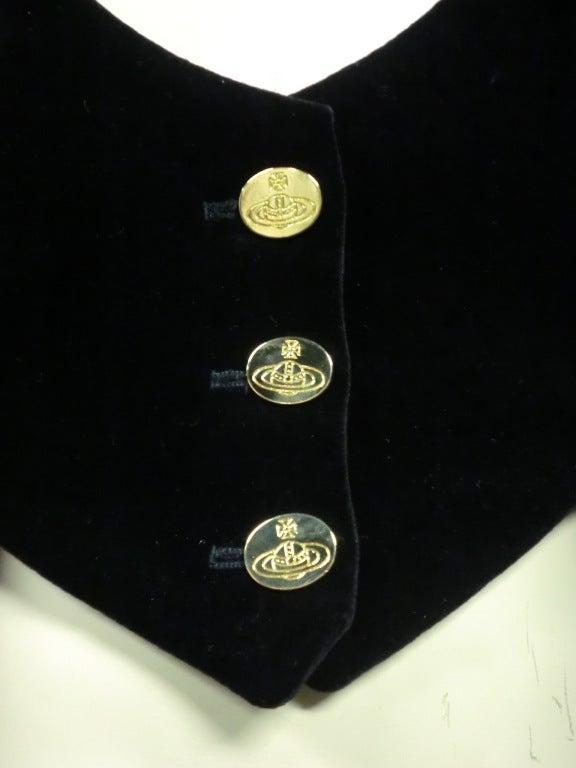 Vivianne Westwood Couture Velvet Jacket w/ built-in Vest 3