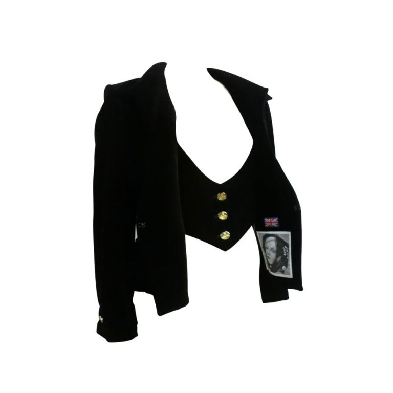 Vivianne Westwood Couture Velvet Jacket w/ built-in Vest 1
