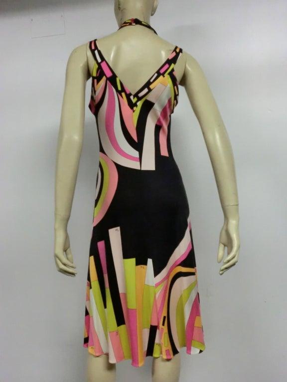 Pucci Silk Jersey Cocktail Dress - Modern 6