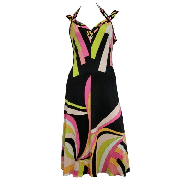 Pucci Silk Jersey Cocktail Dress - Modern 1
