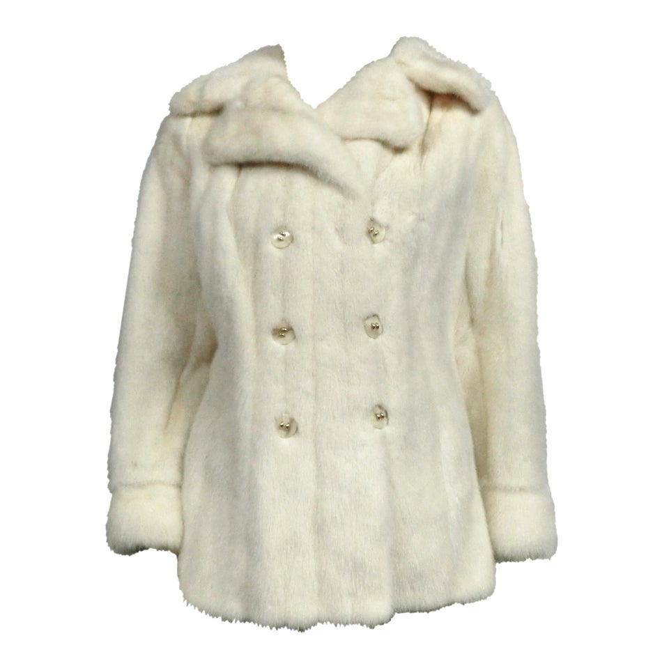 Winter white peacoat