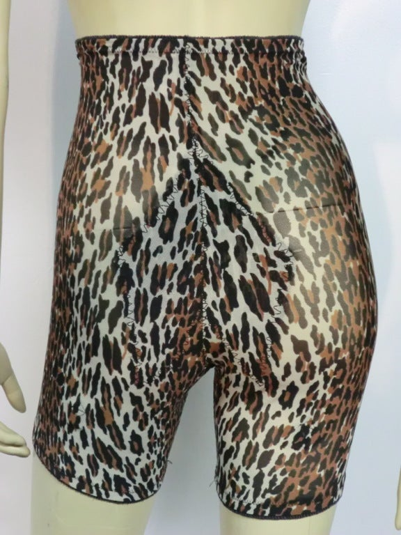 60s Leopard Print Girdle and Bra Set 3