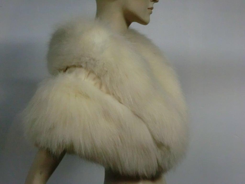 50s Glamorous Arctic Fox Stole 2