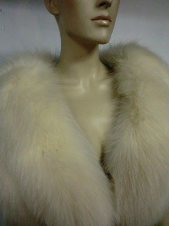 50s Glamorous Arctic Fox Stole 3