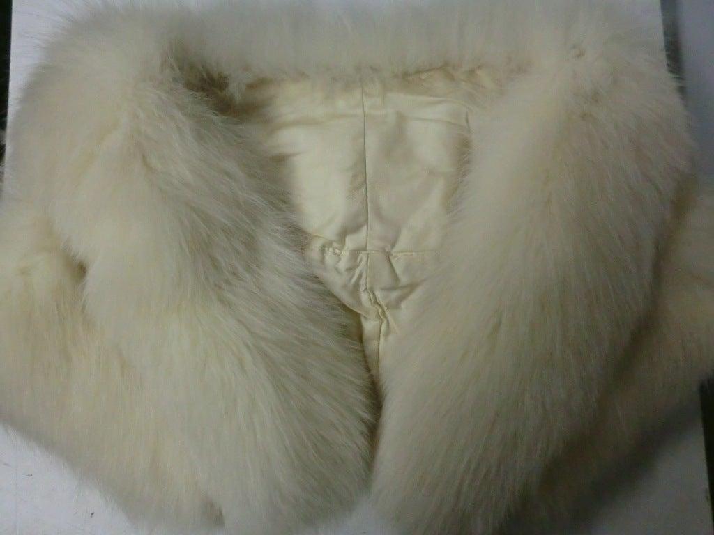 50s Glamorous Arctic Fox Stole 5