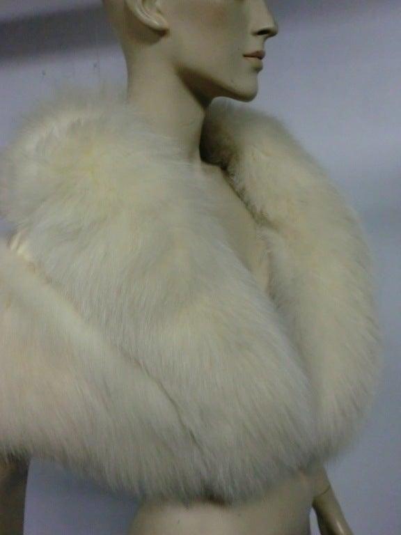 50s Glamorous Arctic Fox Stole 6