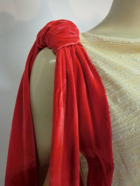 Germaine Monteil Couture 30's Bias Silk Slub Crepe Gown 5