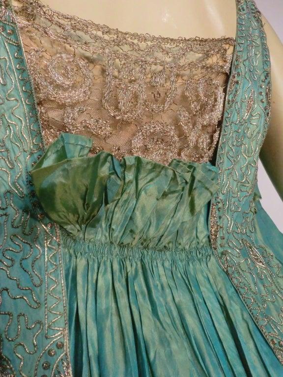 """Paul Poiret Style"" Teens Evening Dress w/ Cascading Train 6"