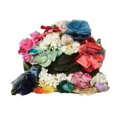 Elsa Schiaparelli 60s Floral Bouquet Flowerpot hat