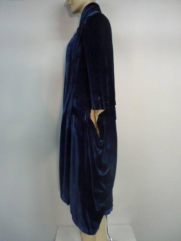"1920s ""Gatsby"" Style Silk Velvet Cocoon Evening Cape w/ Fringe image 6"