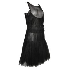 "Chanel ""Gatsby"" Style Tulle Illusion Cocktail Dress"