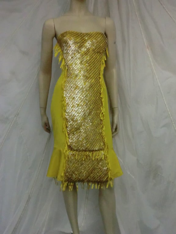 "Gucci ""Ten Thousand Rings"" Dress in Canary Yellow 2"