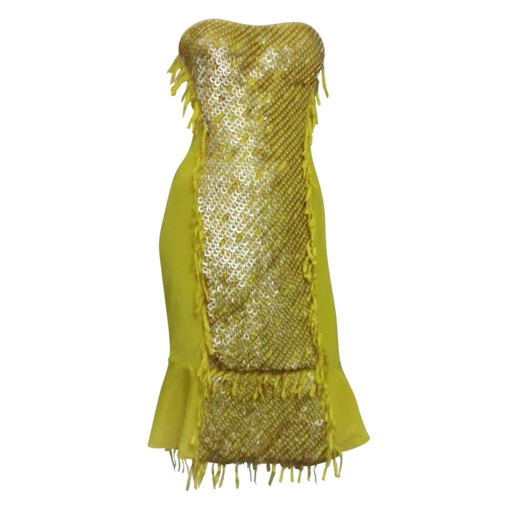 "Gucci ""Ten Thousand Rings"" Dress in Canary Yellow 1"