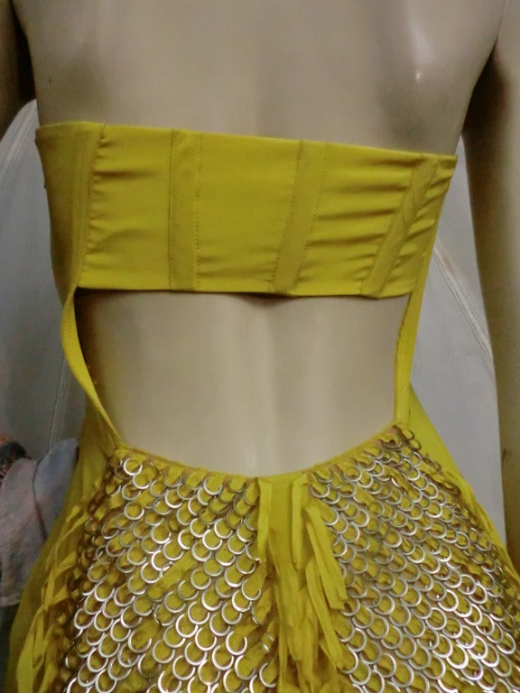 "Gucci ""Ten Thousand Rings"" Dress in Canary Yellow 3"