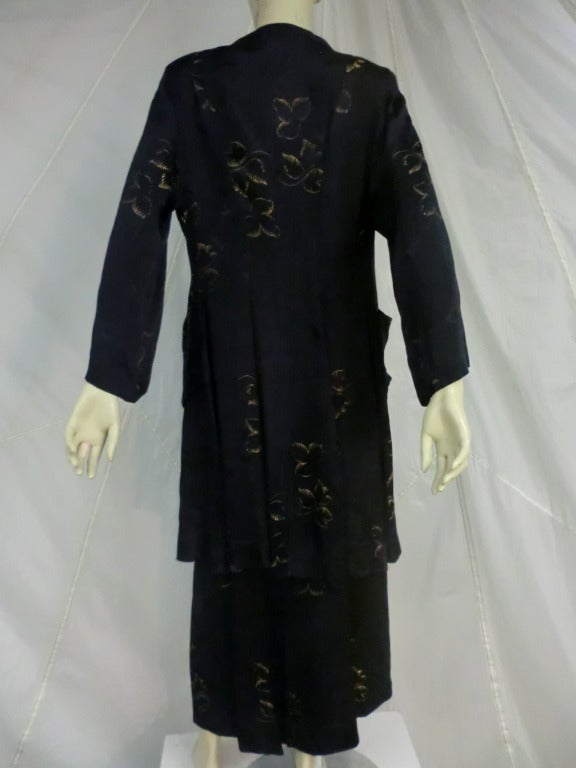 1940's 3-Piece Pajama and Smoking Jacket Ensemble 9