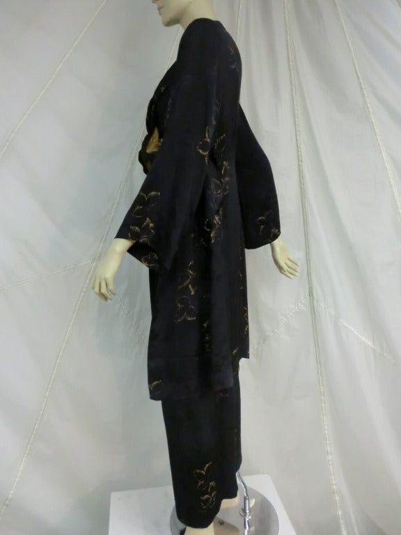 1940's 3-Piece Pajama and Smoking Jacket Ensemble 8