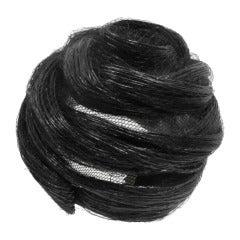 1960's Christian Dior Black Straw Beehive Turban Hat