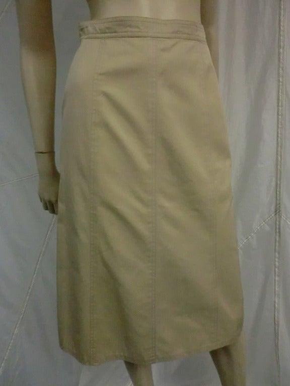 1970's Yves Saint Laurent Khaki Skirt 2