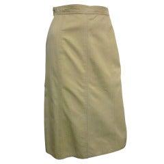 1970's Yves Saint Laurent Khaki Skirt