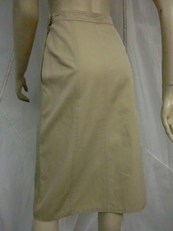 1970's Yves Saint Laurent Khaki Skirt 3